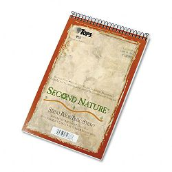 "Second Nature Spiral ReporterSteno Notebook Gregg Rule 6"" x 9"" WE 80-Sheet (TOP74688)"