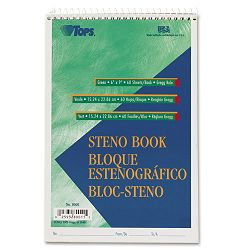 "Gregg Steno Books 6"" x 9"" Green Tint 60-Sheet Pad (TOP8001)"