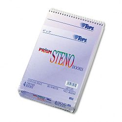 "Spiral Steno Notebook Gregg Rule 6"" x 9"" Orchid 4 80-Sheet PadsPack (TOP80264)"
