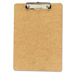 "Clipboard 12"" Capacity Holds 8-12""w x 12""h Brown Pack of 6 (UNV05562)"