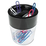 "Magnetic Clip Dispenser Two Compartments Plastic 2 12"" x 2 12"" x 3 (UNV08126)"