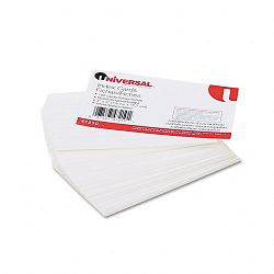 "Ruled Index Cards 3"" x 5"" White Pack of 100 (UNV47210)"