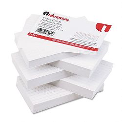 "Ruled Index Cards 3"" x 5"" White Pack of 500 (UNV47215)"