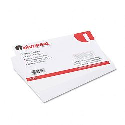 "Unruled Index Cards 5"" x 8"" White Pack of 100 (UNV47240)"