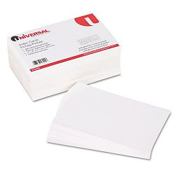 "Unruled Index Cards 5"" x 8"" White Pack of 500 (UNV47245)"