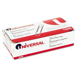 Nonskid Paper Clips Wire Jumbo Silver Box of 100 (UNV72240BX)
