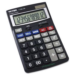 1180-3A Antimicrobial Desktop Calculator 12-Digit LCD (VCT11803A)