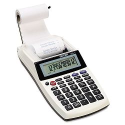 1205-4 PalmDesktop One-Color Printing Calculator 12-Digit LCD Black (VCT12054)