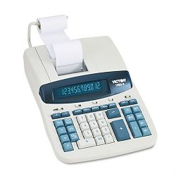 1260-3 Two-Color Heavy-Duty Printing Calculator 12-Digit Fluorescent BlackRed (VCT12603)