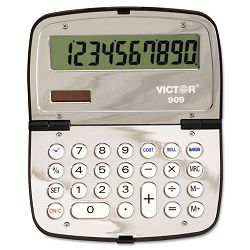 909 Handheld Compact Calculator 10-Digit LCD (VCT909)
