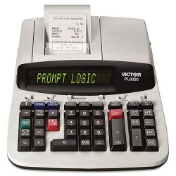 PL8000 1-Color Prompt Logic Printing Calculator 14-Digit Dot Matrix Black (VCTPL8000)