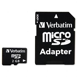 MicroSD Card with Adapter 2GB (VER96168)
