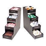 "Narrow Condiment Organizer 6""w x 19""d x 15-78""h Black (VRTVFC1916RC)"