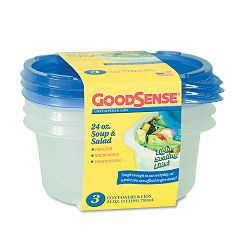 Soup and Salad Container 24 oz Clear Pack of 3 (WBIGDS12DCS3)
