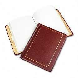"Looseleaf Minute Book Red Leather-Like Cover 125 Pages 8 12"" x 11"" (WLJ039611)"