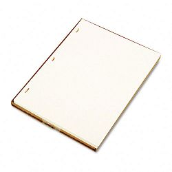 "Looseleaf Minute Book Ledger Sheets Ivory Linen 11"" x 8-12"" 100 SheetBox (WLJ90110)"