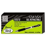 Sarasa Roller Ball Retractable Gel Pen Black Ink Medium Pack of 24 (ZEB14680)