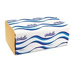 "Embossed 1-Fold Paper Towels 9 920"" x 9"" Natural 250Pack Carton of 16 (WNS106)"