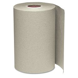 "Nonperforated Paper Towel Roll 8"" x 350' Natural Carton of 12 (WNS108)"