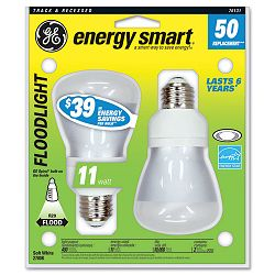 Compact Fluorescent Bulb 14 Watt R20 Reflector Soft White Pack of 2 (GEL76131)