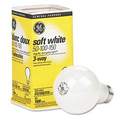 Three-Way Soft White Incandescent Globe Bulb 50100150 Watts (GEL97494)