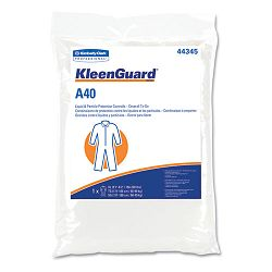 KLEENGUARD A40 Coverall To-Go Microporous Film Laminate XXL White Carton of 25 (KIM44345)