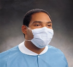Procedure Mask Pleat-Style with Ear Loops Blue Carton of 500 (KIM47080)