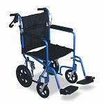 "Excel Deluxe Aluminum Transport Wheelchair 19"" x 16"" 300 lbs. (MIIMDS808210AB)"