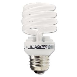 Spiral Soft White Energy Saver Compact Fluorescent Bulb 13 Watts (SLT26166)
