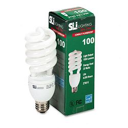 Spiral Soft White Energy Saver Compact Fluorescent Bulb 23 Watts (SLT26170)