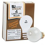 Incandescent Bulbs 40 Watts Pack of 4 (SLT60008)