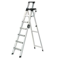Eight-Foot Lightweight Aluminum Folding Step Ladder with Leg Lock & Handle 300lb (CSC2081AABLD)