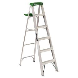 #428 Six-Foot Folding Aluminum Step Ladder Green (DADAS4006)