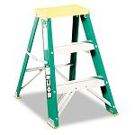 "#624 Folding Fiberglass Locking Two-Step Stool 17w x 22 Spread x 24""h Yellow (DADL321202)"