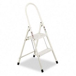 "#560 Steel Qwik Step Platform Ladder 16-78""w x 19-12"" Spread x 41""h Almond (DADL434102)"