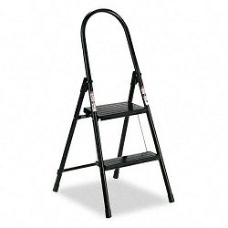 "#560 Steel Qwik Step Platform Ladder 16-78""w x 19-12"" Spread x 41""h Black (DADL434202)"