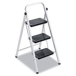 "QS3 Quick Step Steel Three-Step Folding Stool 11-34""w x 24-14"" Spread x 36-34""h (DADL436203)"