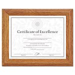 "DocumentCertificate Frame Wood 8-12"" x 11"" Stepped Oak (DAX2703N8X)"