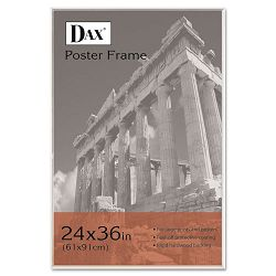 "U-Channel Poster Frame Contemporary with Plexiglas Window 24"" x 36"" Clear (DAX281136T)"