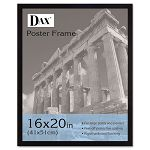 "Flat Face Wood Poster Frame with Plexiglas Window 16"" x 20"" Black (DAX2860V2X)"