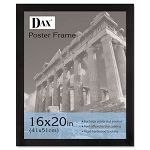 "Black Wood Poster Frame with Plastic Window Wide Profile 16"" x 20"" (DAX2863V2X)"