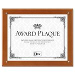 "Plaque-In-An-Instant Kit with CertificateMats WoodAcrylic 10-12"" x 13"" Walnut (DAXN100WT)"