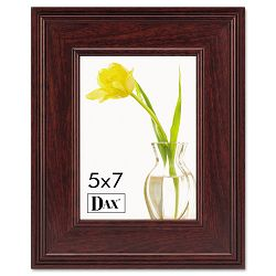 "Executive DocumentPhoto Frame DeskWall Mount Wood 5"" x 7"" Mahogany (DAXN15787HT)"