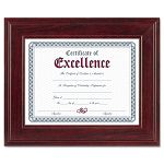 "Executive DocumentPhoto Frame DeskWall Mount Wood 8-12"" x 11"" Mahogany (DAXN15787NT)"