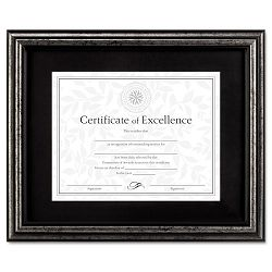 "Document Frame DeskWall Wood 11"" x 14"" Antique Charcoal Brushed Finish (DAXN15790ST)"