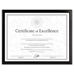 "Value U-Channel Document Frame with Certificates 8-12"" x 11"" Black (DAXN17000N)"