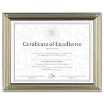 "Antique Colored Document Frame with Certificate Metal 8-12"" x 11"" Bronze (DAXN1818N3T)"