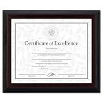 Solid Wood AwardCertificate Frame 8 x 10 Black with Walnut Trim (DAXN19880BT)