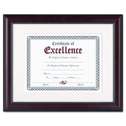 "Prestige Document Frame Matted with Certificate RosewoodBlack 11 x 14"" (DAXN3028S2T)"