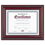 "World Class Document Frame with Certificate Rosewood 8 12"" x 11"" (DAXN3245N3T)"